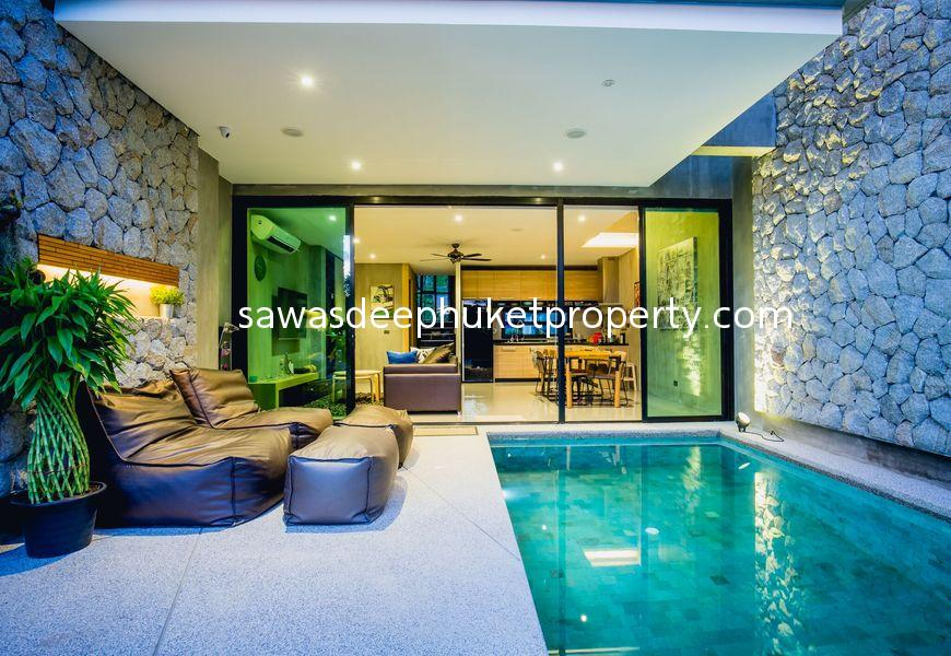 Modern Style Townhome with Private Pool For Sale in Chalong